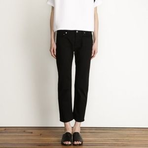 Acne Studios Row Black Cropped Pants